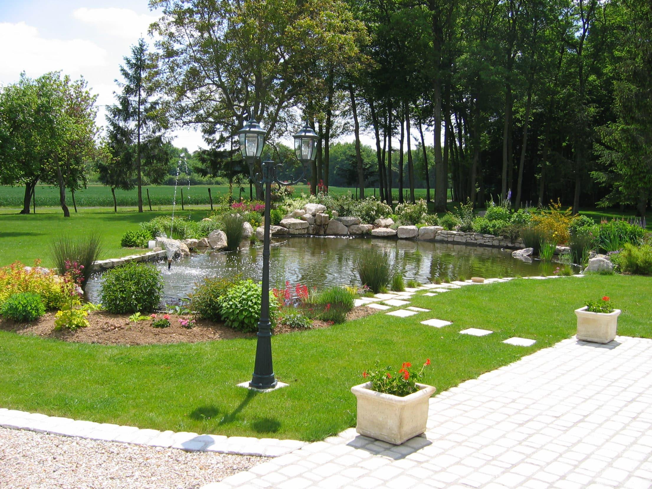L'aperçu d'un jardin bien aéré